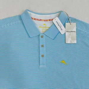 ommy Bahama Men Polo Shirt Size 2XL Pima Cotton